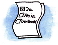 Illustration Umfrage