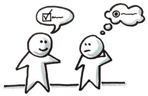 Pattern Kommunikation Missverständnis