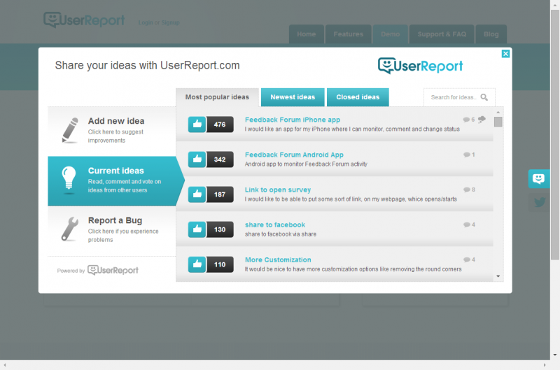 UserReport Forum