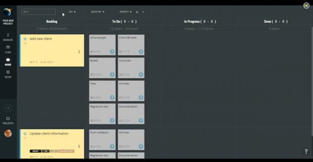 Screenshot ScrumDeskStart