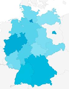 Karte Besucher-Verteilung