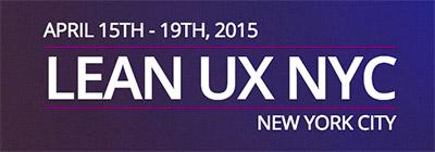 Konferenz Lean UX NYC